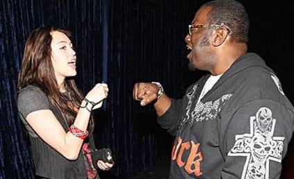 Randy Jackson Greets Miley Cyrus