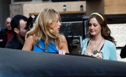 Ed, Blake and Leighton on the Gossip Girl Set
