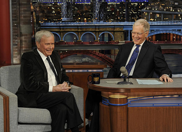 David Letterman and Tom Brokaw