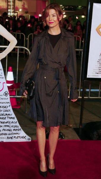 Ellen Pompeo at 27 Dresses Premiere