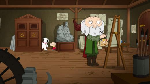 Da Vinci on Family Guy