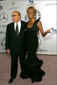 Whitney Houston & Clive Davis