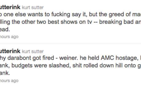 Kurt Sutter Calls Out Matthew Weiner, AMC