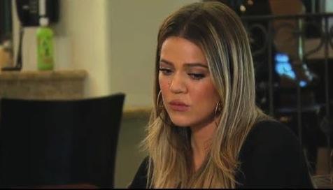 Sad Khloe Kardashian