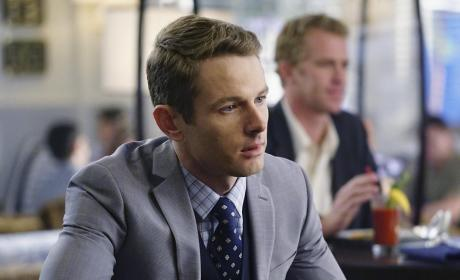 Lyman Looks Sneaky - Revenge Season 4 Episode 14