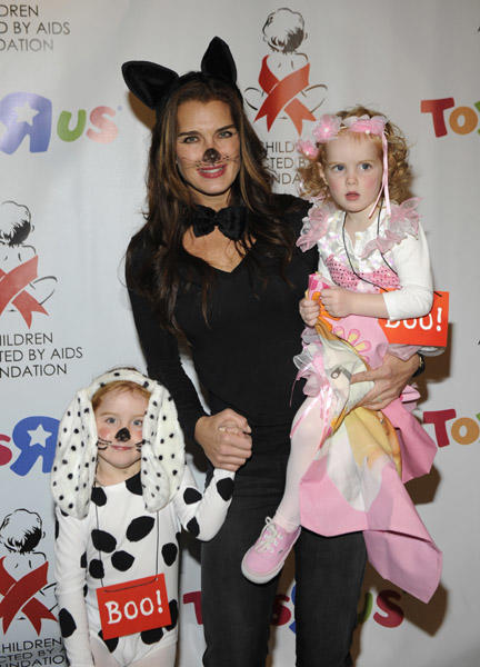 Brooke Shields and Daughters in Costumes