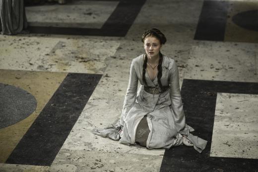 Sansa on Her Knees