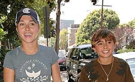 Hayden, Jansen Panettiere Go for a Stroll
