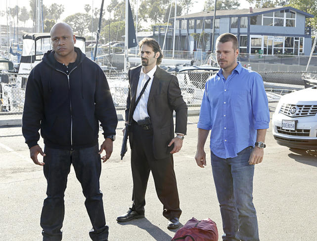 Sam, Callen and an Armed Man