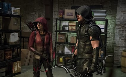 Arrow Photo Preview: Anarky at the Mayoral Announcement!