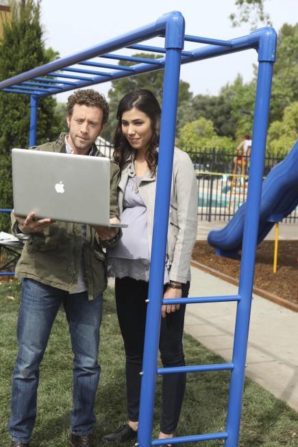 Hodgins and Angela at the Playground