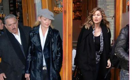 Ellen Pompeo, Katherine Heigl in N.Y. City