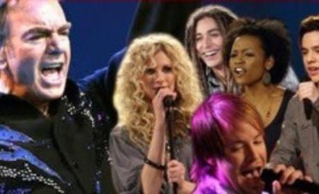 Live Blogging American Idol, Neil Diamond Week