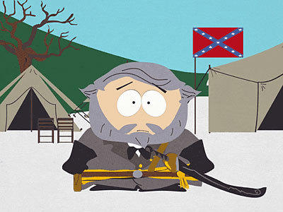 Cartman as General Lee