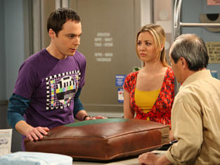 Sheldon and Penny at the Cleaners