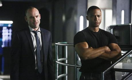 Lance and Diggle - Arrow Season 4 Episode 15