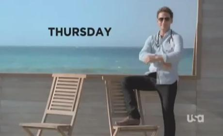 "Royal Pains Promo & Clips: ""Pit Stop"""