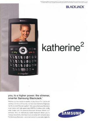Katherine Heigl, Blackjack Model