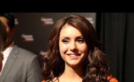 Nina Dobrev Red Carpet Interview