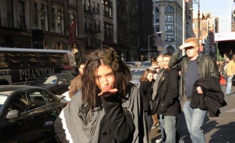 Jessica Szohr Strolls in SoHo