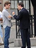 Ed and Chace on Set