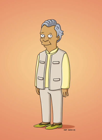 Muhammad Yunus on The Simpsons