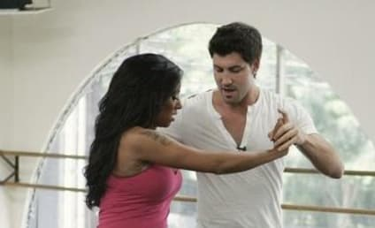 Melanie Brown and Maksim Chmerkovskiy: Hard at Work