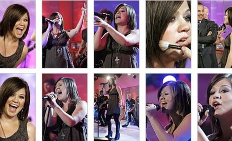 Kelly Clarkson on the Today Show