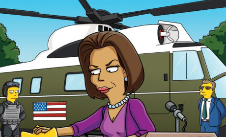 Michelle Obama on The Simpsons