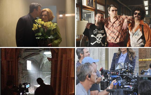 A sweet moment behind the scenes castle s6e6