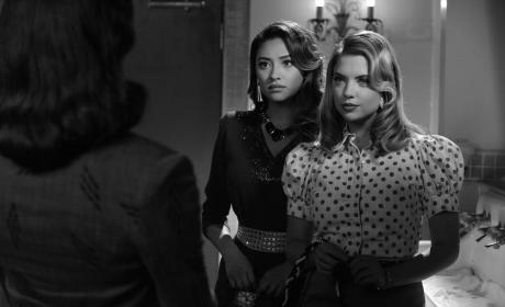 Hanna and Emily Look Stunned