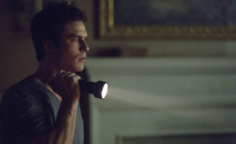 Damon with a Flashlight