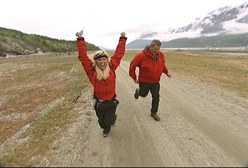Mallory and Gary Run to the Pit Stop