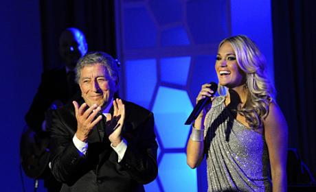 Tony Bennett and Carrie Underwood