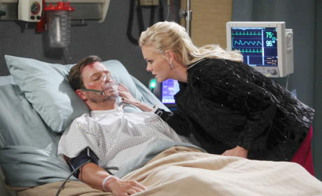 Belle Comforts Brady - Days of Our Lives