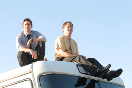 Jim & Dwight On the Bus