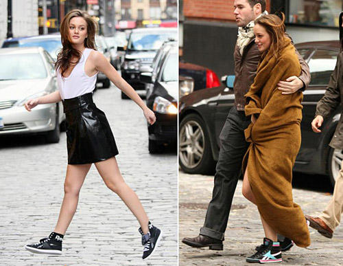 Leighton Meester in Reeboks