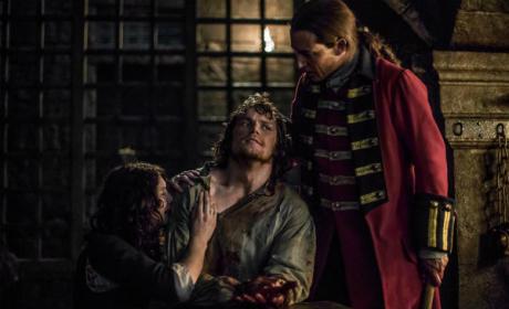 Claire, Jamie and Black Jack Randall - Outlander Season 1 Episode 15