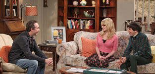 Stewart Chats with Bernadette and Howard - The Big Bang Theory Season 8 Episode 24