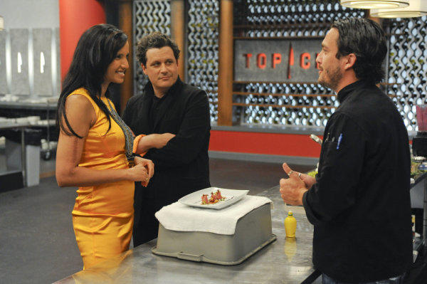 Padma Lakshmi, Isaac Mizrahi and Fabio Viviani.
