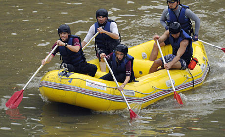 Jill and Thomas White Water Raft