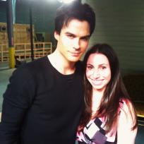 The Vampire Diaries Set Pics