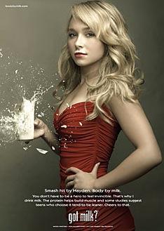 Hayden Panettiere Got Milk