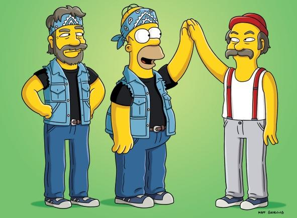 Cheech and Chong on The Simpsons