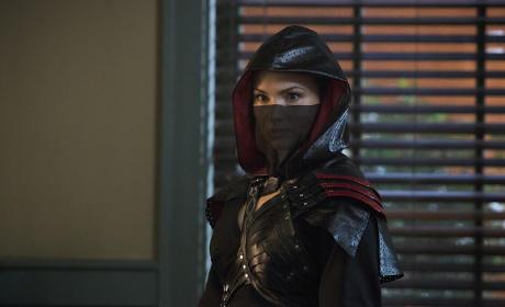 Nyssa in Costume - Arrow Season 3 Episode 16