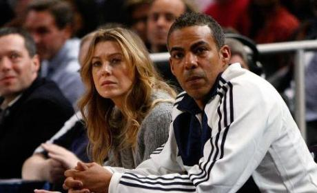 Ellen Pompeo, Chris Ivery at Madison Square Garden
