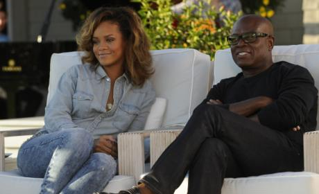 L.A. Reid and Rhianna