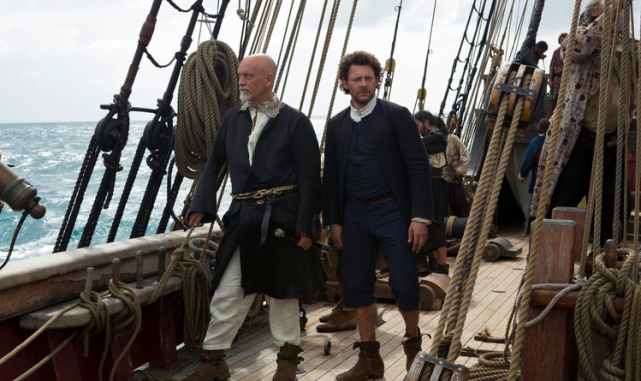 Blackbeard and Tom Lowe (Crossbones - NBC)