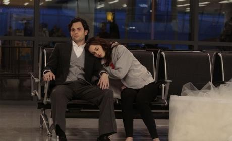 Dan and Blair at the Airport