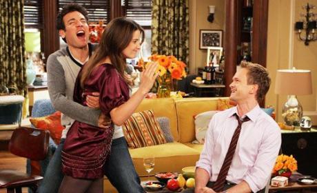 Robin Slaps Barney